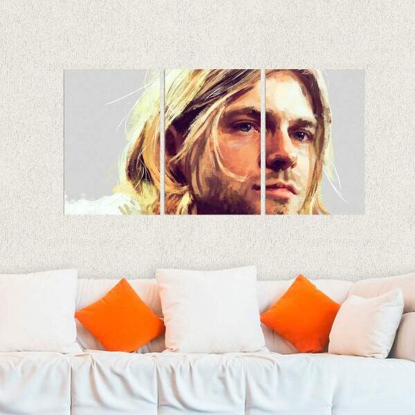 Kit 3 Placas Decorativas Kurt Cobain 4