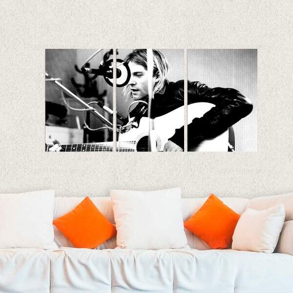 Kit 3 Placas Decorativas Kurt Cobain 7