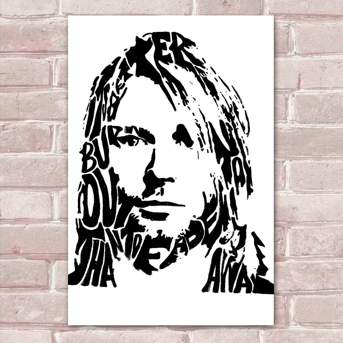 Placa Decorativa Kurt Cobain 17