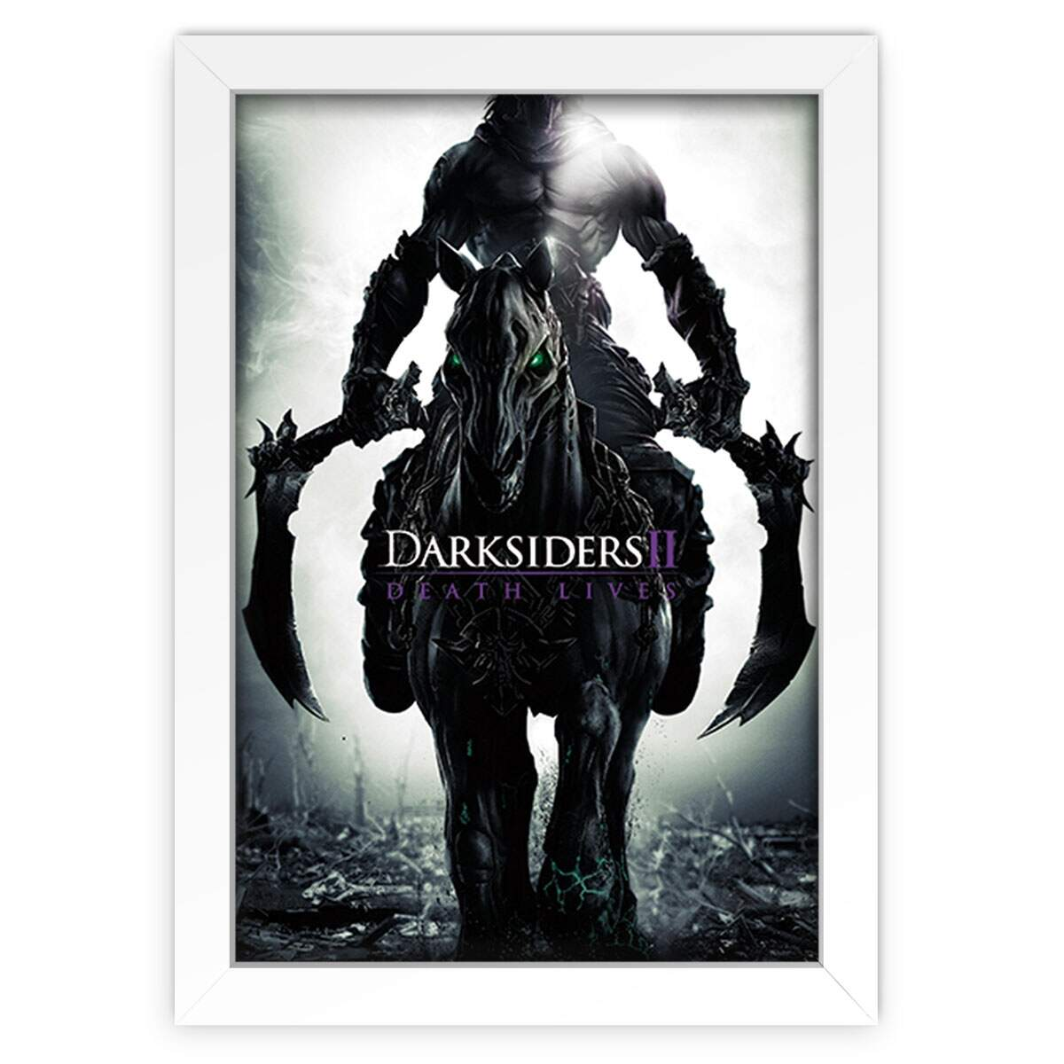 Quadro Decorativo Games Darksiders Morte