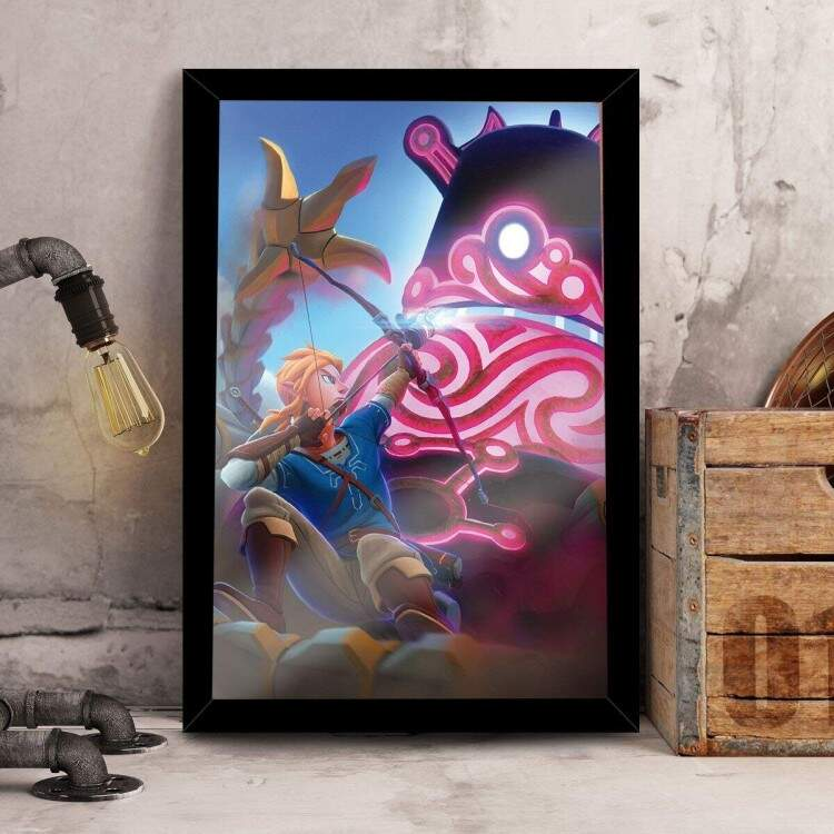 Quadro Decorativo Zelda Breath of The Wild