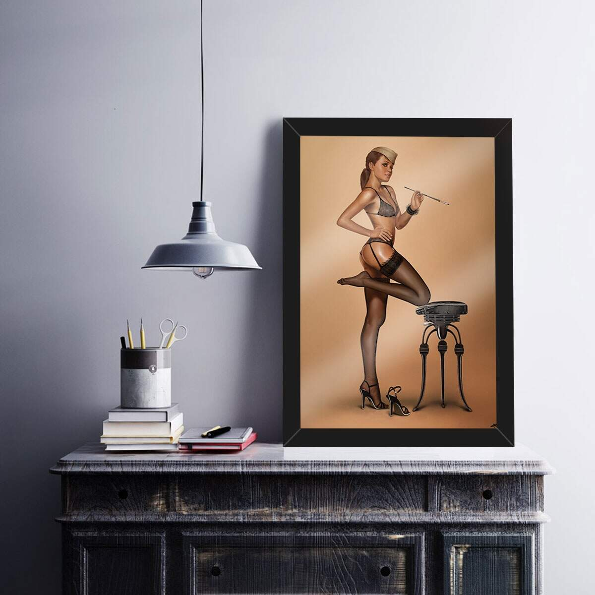 Quadro Decorativo Pin Up 11
