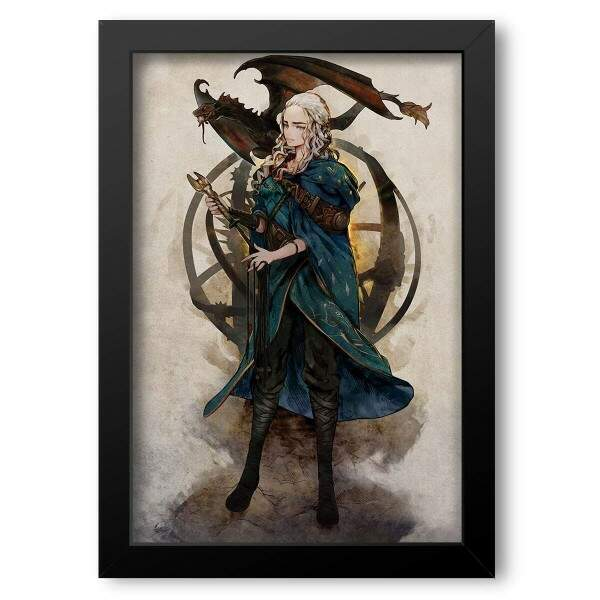 Quadro Decorativo Game Of Thrones Daenerys Targaryen