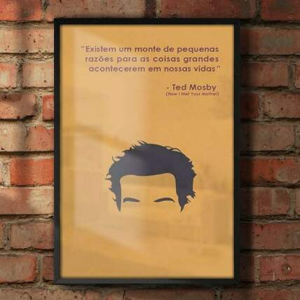 Quadro Decorativo How I Met Your Mother Ted Mosby