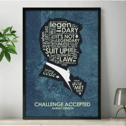Quadro Decorativo How I Met Your Mother Frases Barney