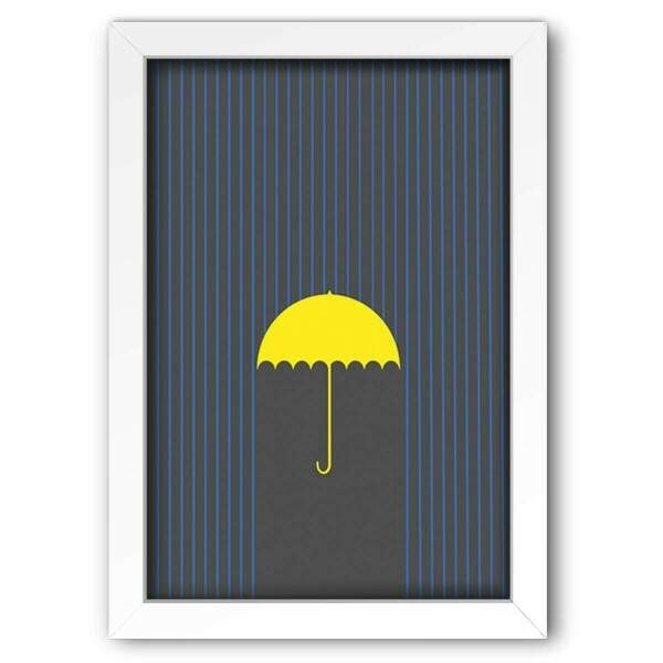 Quadro Decorativo How I Met Your Mother Yellow Umbrella 5
