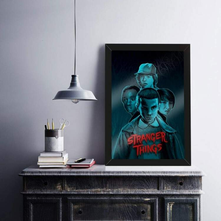 Quadro Decorativo Stranger Things Personagens 2