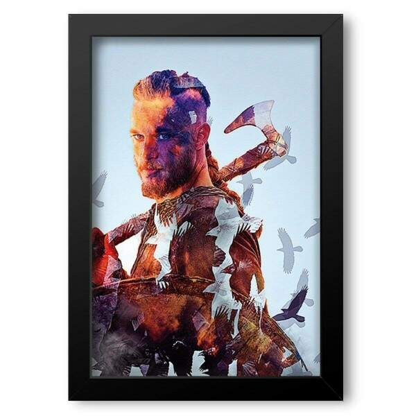 Quadro Decorativo Vikings Ragnar