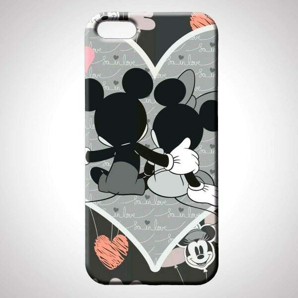 Capa para Celular Mickey e Minnie Love