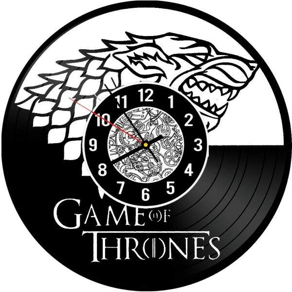 Relógio de Disco de Vinil Game of Thrones Stark