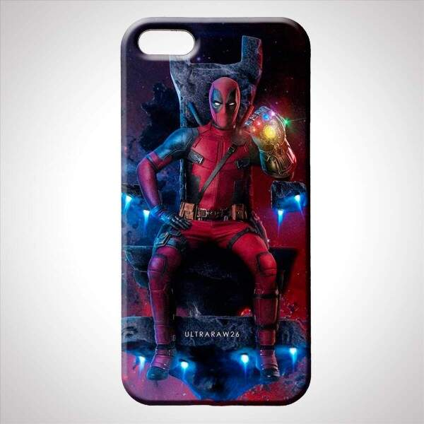 Capa para Celular Deadpool com Manopla do Infinito