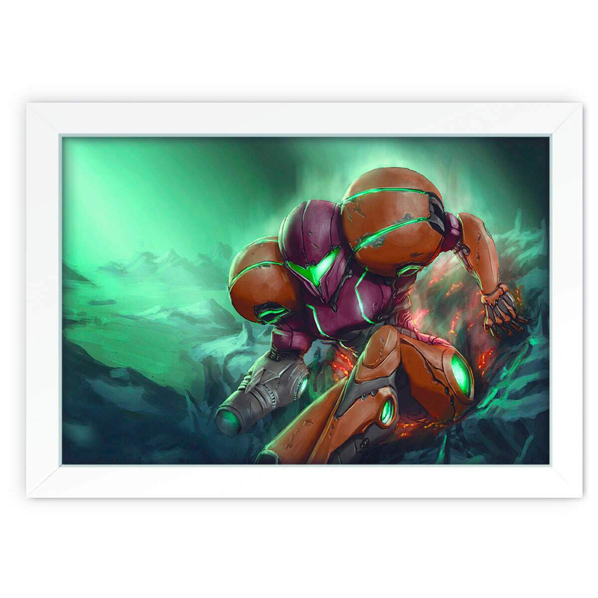 Quadro Decorativo Metroid Samus