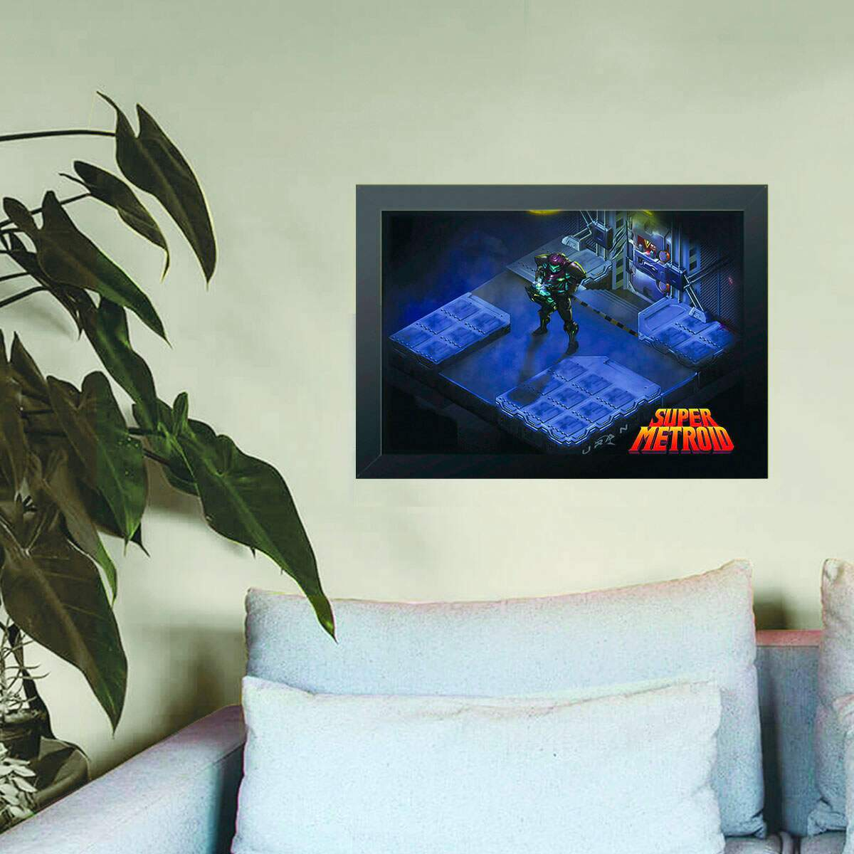Quadro Decorativo Metroid Isométrica