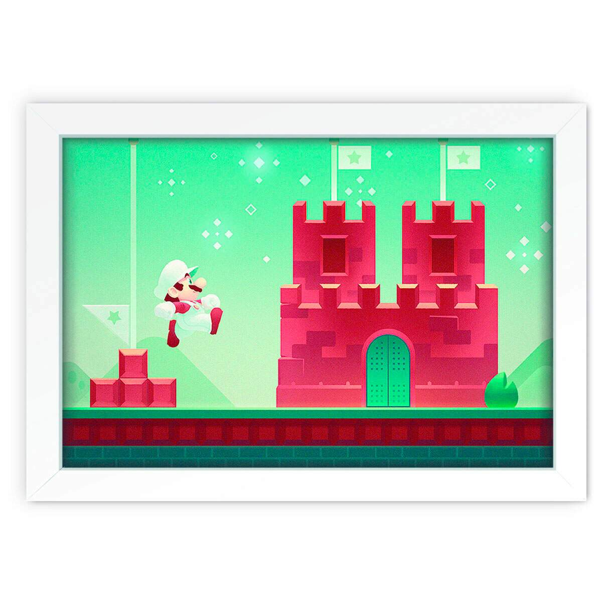 Quadro Decorativo Super Mario Bross