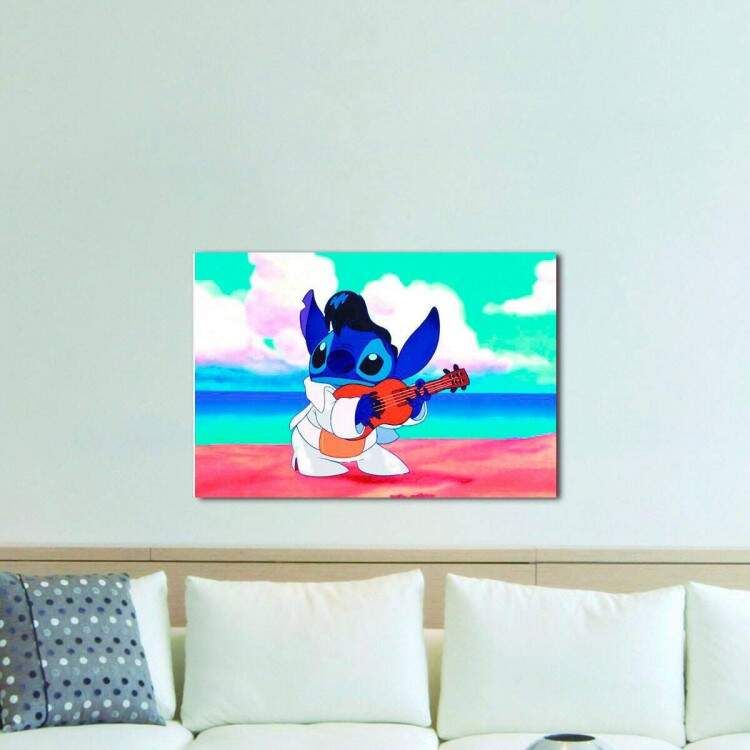 Quadro Decorativo Infantil Lilo e Stitch 01