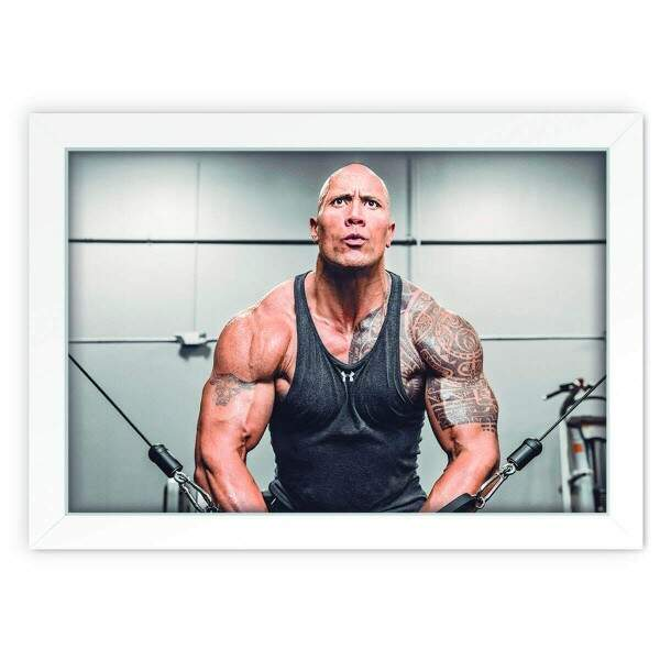 Quadro Decorativo Dwayne Johnson 01