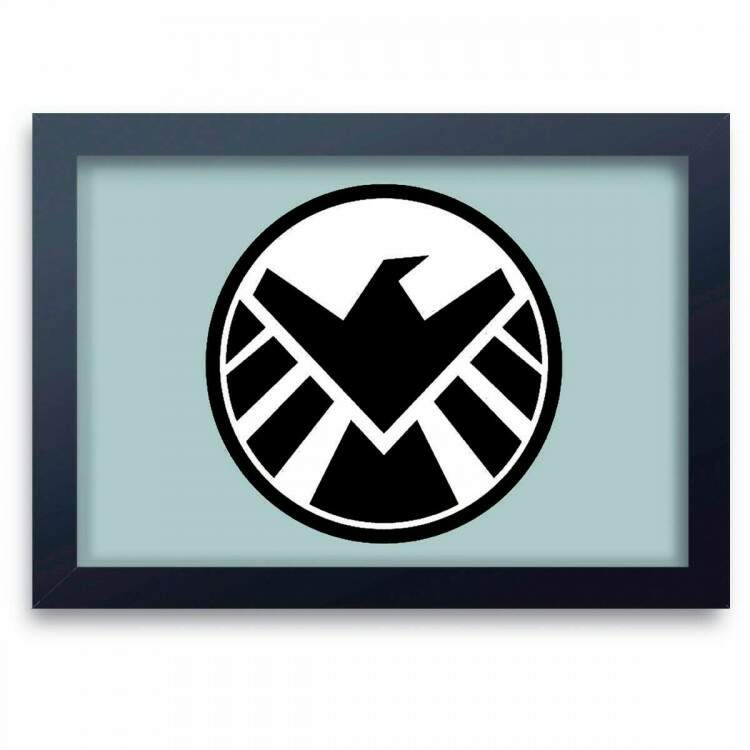 Quadro Decorativo Agentes da Shield Logo