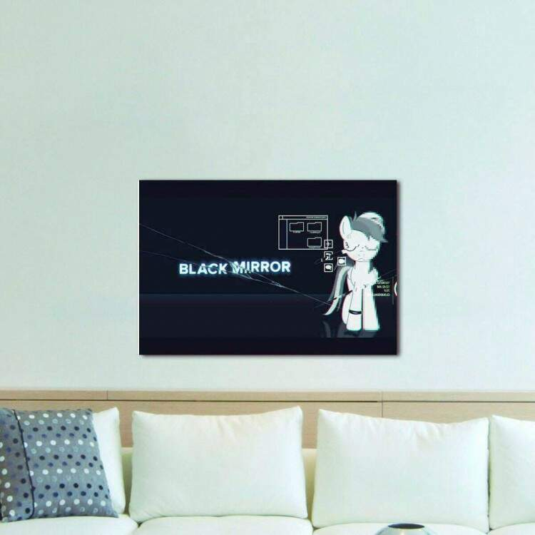 Quadro Decorativo Black Mirror 06
