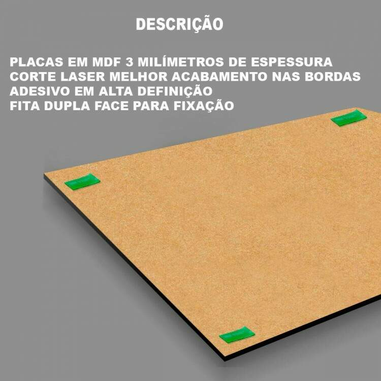 Kit 9 Placas Decorativas para Lanchonete 02 - 154x97cm