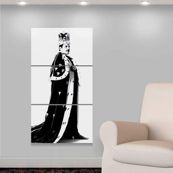 Kit 3 Placas Decorativas Personalidades 1 Freddie Mercury