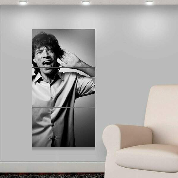 Kit 3 Placas Decorativas Personalidades 5 Mick Jagger