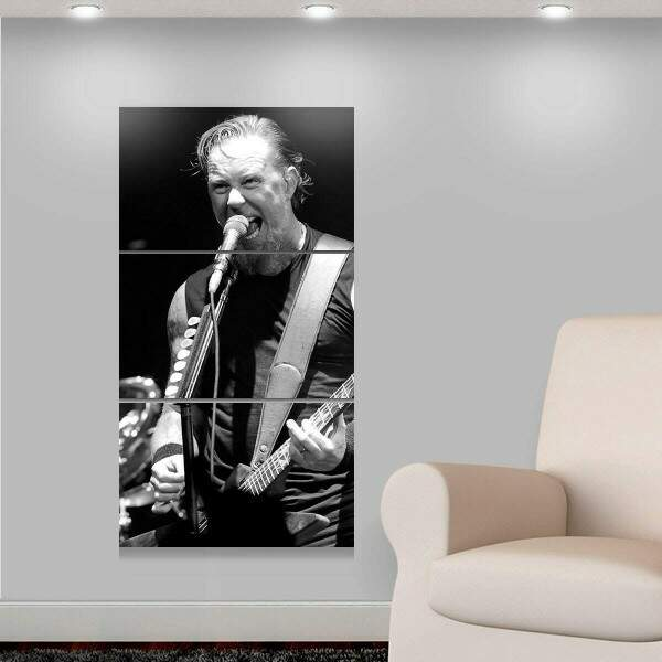 Kit 3 Placas Decorativas Personalidades 9 James Hetfield