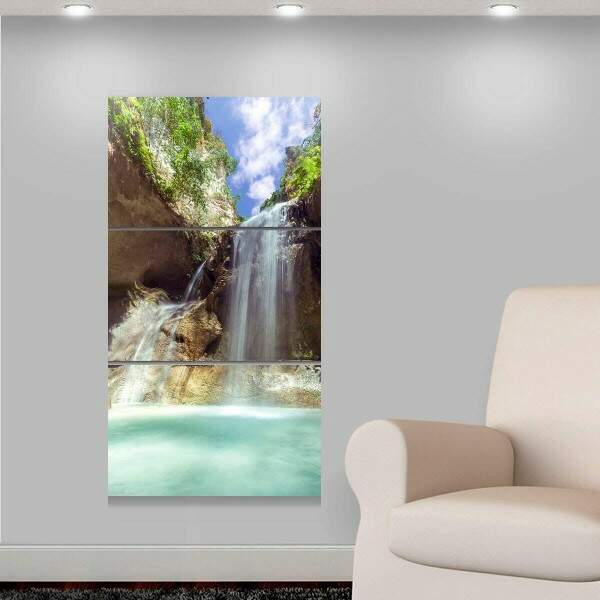 Kit 3 Placas Decorativas Paisagem 18 Cascata