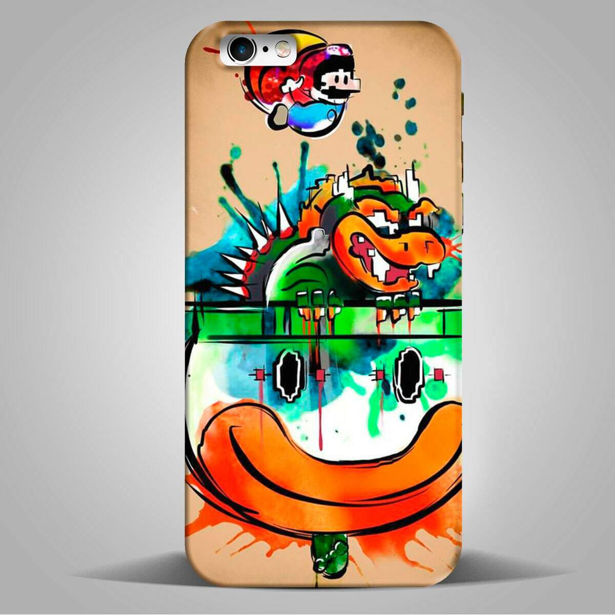 Capa para Celular Games Super Mario vs Bowser