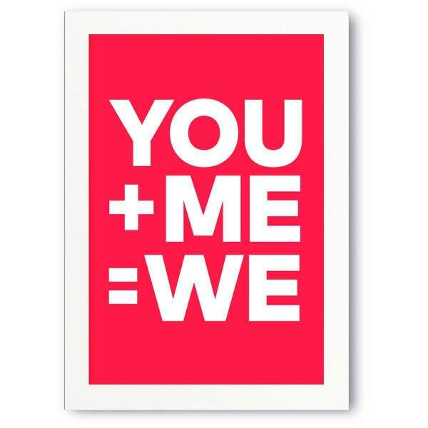 Quadro Decorativo Romântico You Me We