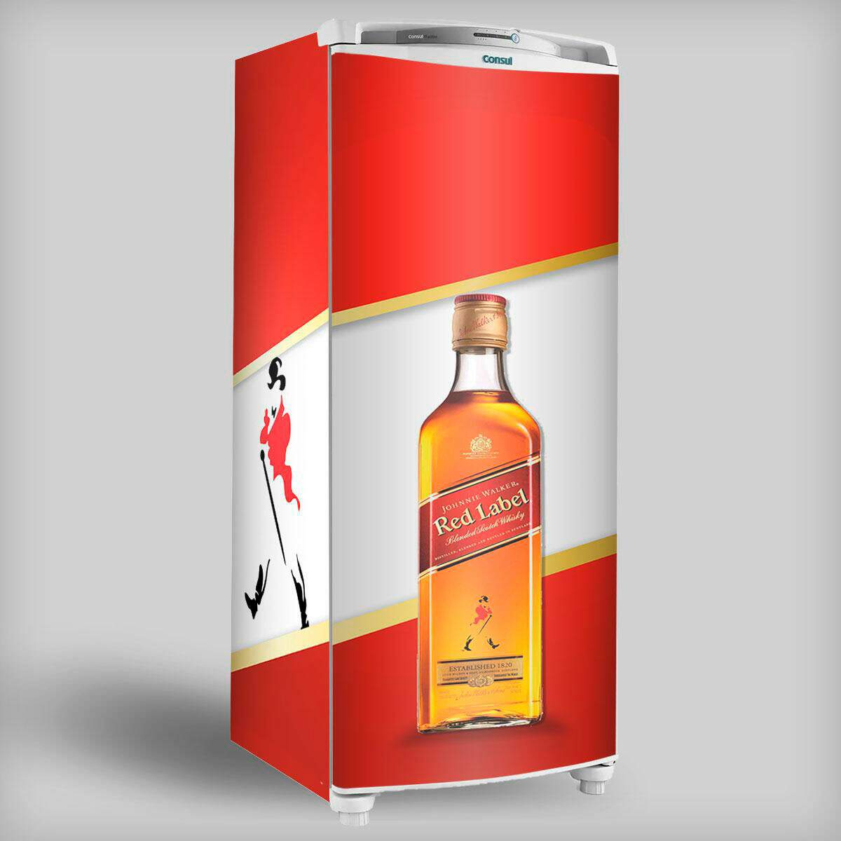 Envelopamento de Geladeira Inteira - Johnny Walker Red Label