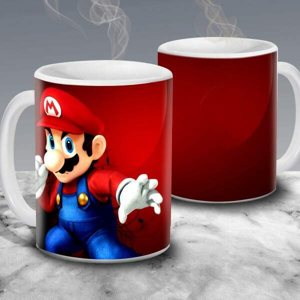 Caneca Gamer Geek Super Mario Bros