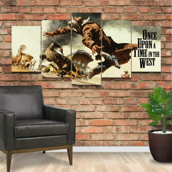 Kit 5 Quadros Decorativos Mosaico Once Upon A Time In The West