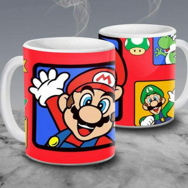 Caneca Turma do Super Mario Bros 03