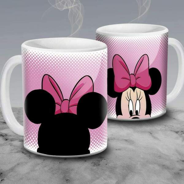 Caneca Minnie Rosa Face