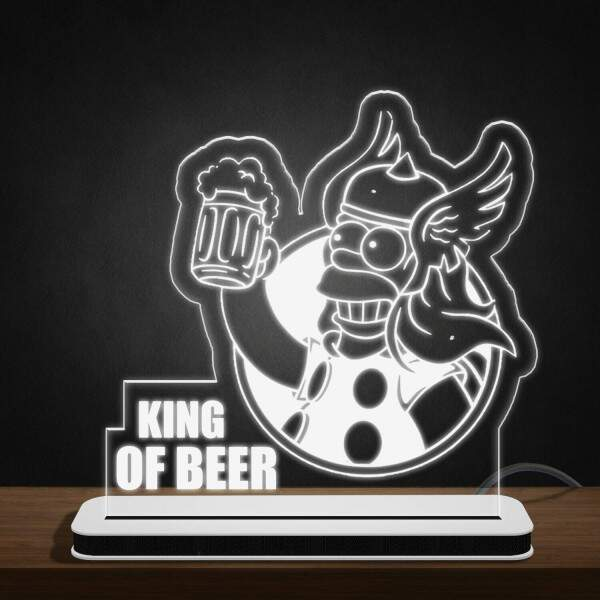 Luminária de Led e Acrílico Hommer Simpson King Of Beer 03