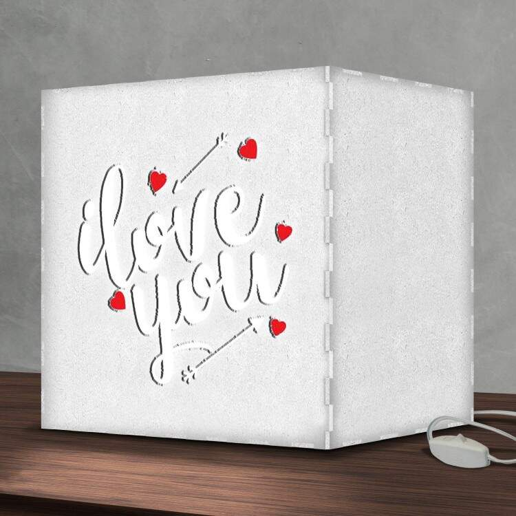 Luminária Lightbox Led I Love You