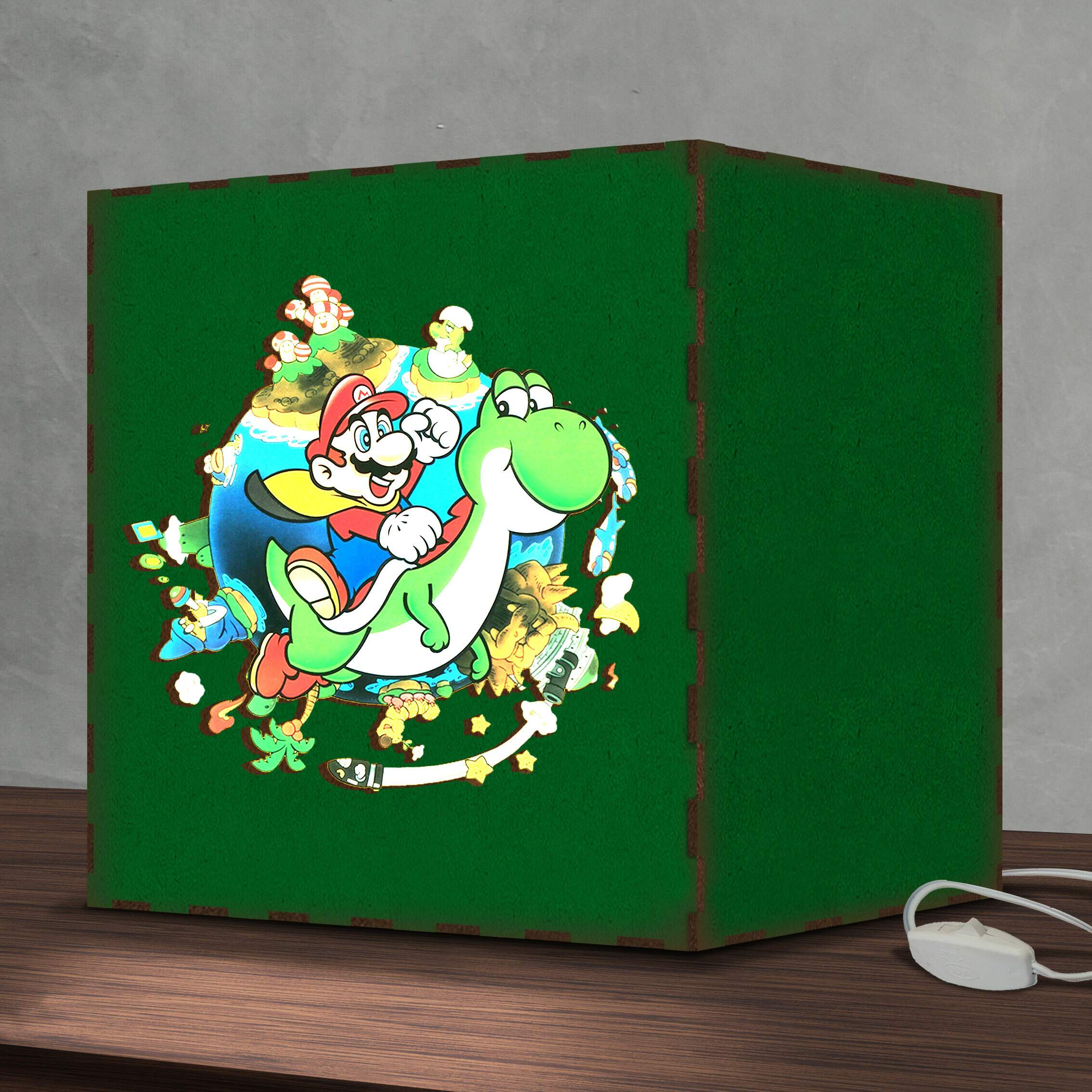 Luminária Lightbox Led Super Mario World