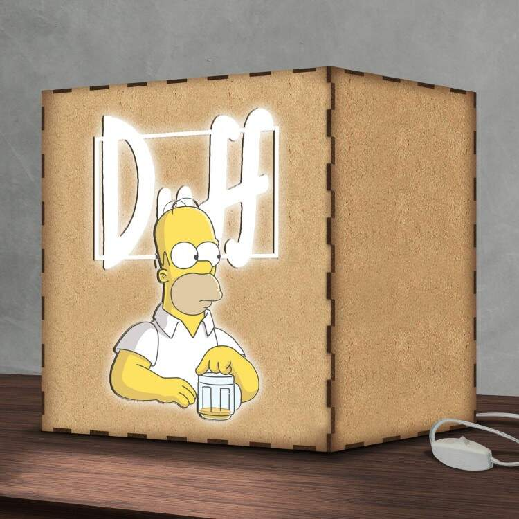 Luminária Lightbox Led Hommer Simpson Duff