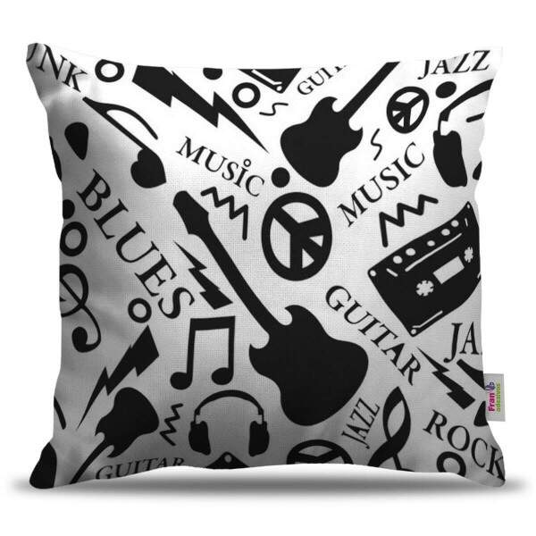 Almofada Decorativa Musica Rock