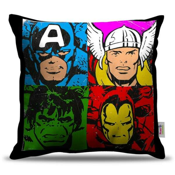 Almofada Decorativa Pop Art Vingadores