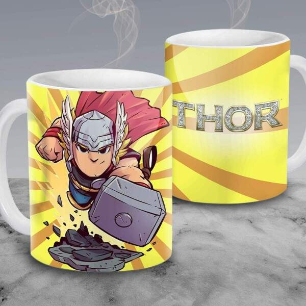 Caneca Cartoon Thor 09