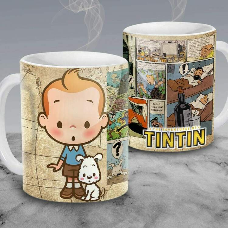 Caneca Cartoon As Aventuras de Tintin 10