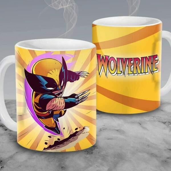 Caneca Cartoon Wolverine 11