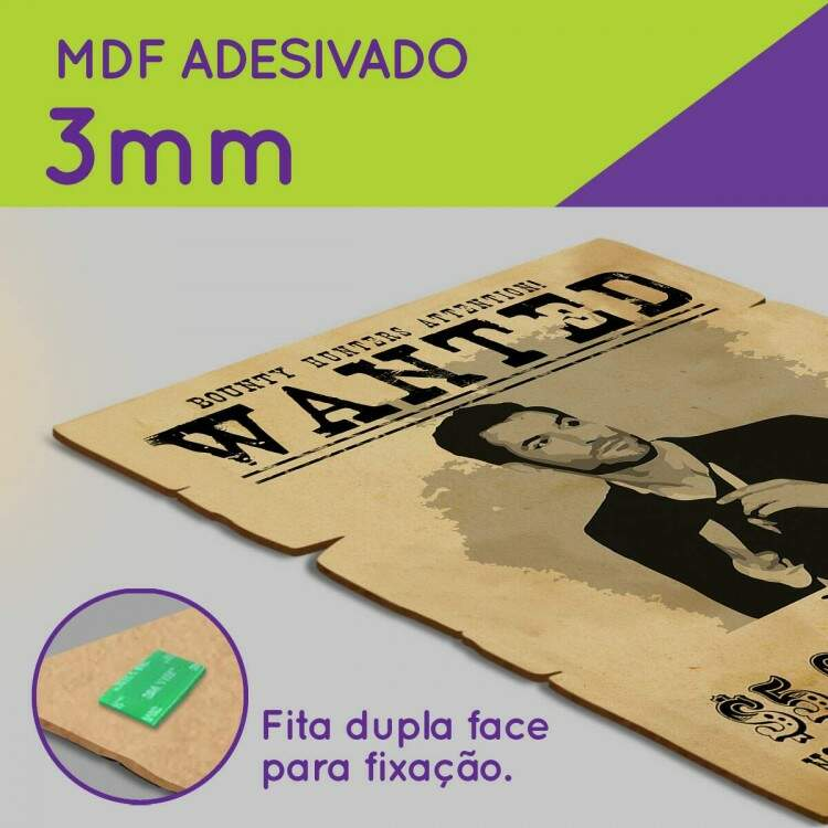 Placas Decorativas Wanted Procurado Lúcifer