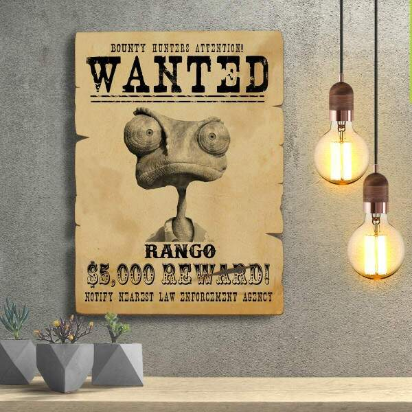 Placas Decorativas Wanted Procurado Rango