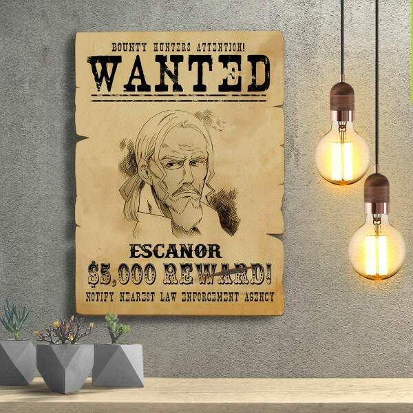 Placas Decorativas Wanted Procurado Escanor
