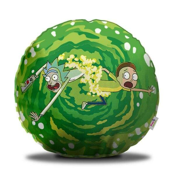 Almofada Decorativa Redonda Rick and Morty