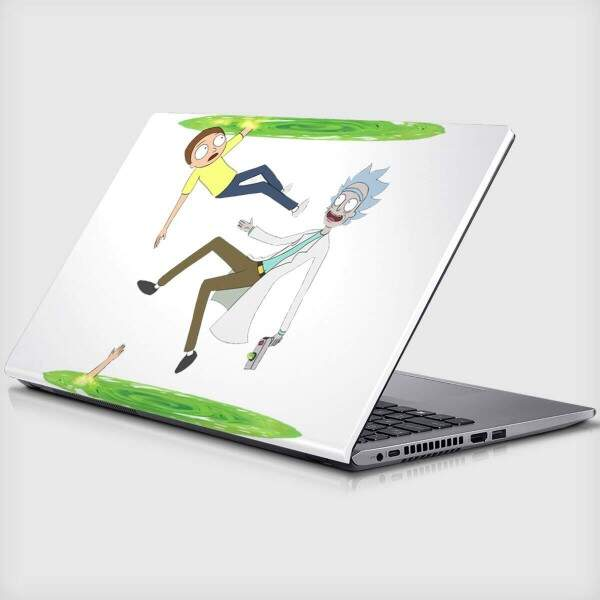 Adesivo Para Notebook Rick and Morty
