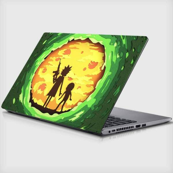 Adesivo Para Notebook Rick and Morty Portal