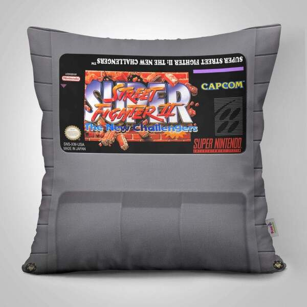 Almofada Decorativa Cartucho Nintendo Street Fighter